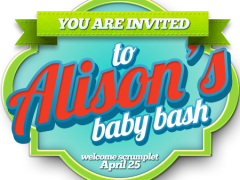 welcome to Alison's baby shower and Scrumplet's baby bash!