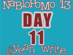 BlogHer's NaBloPoMo at yeah write: Day 11— good luck, bad luck