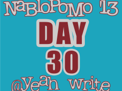 BlogHer's NaBloPoMo at yeah write—Day 30: the final day of blogging where ain't nobody got no socks